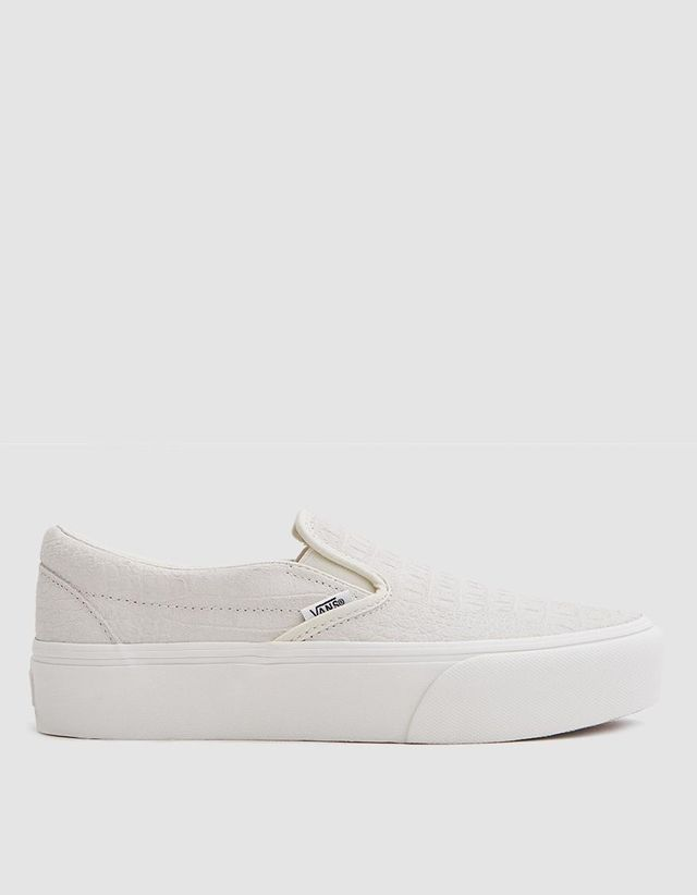 Classic Embossed Platform Slip On in Turtledove