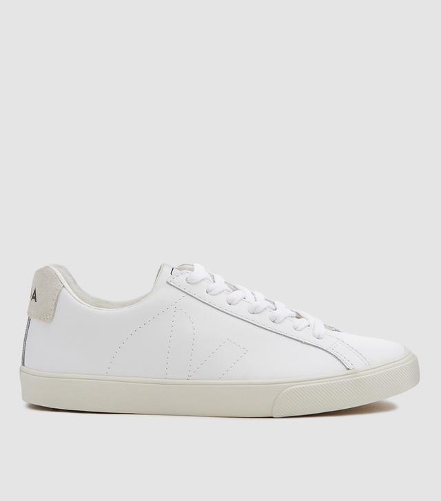Esplar Leather Sneaker in Extra White