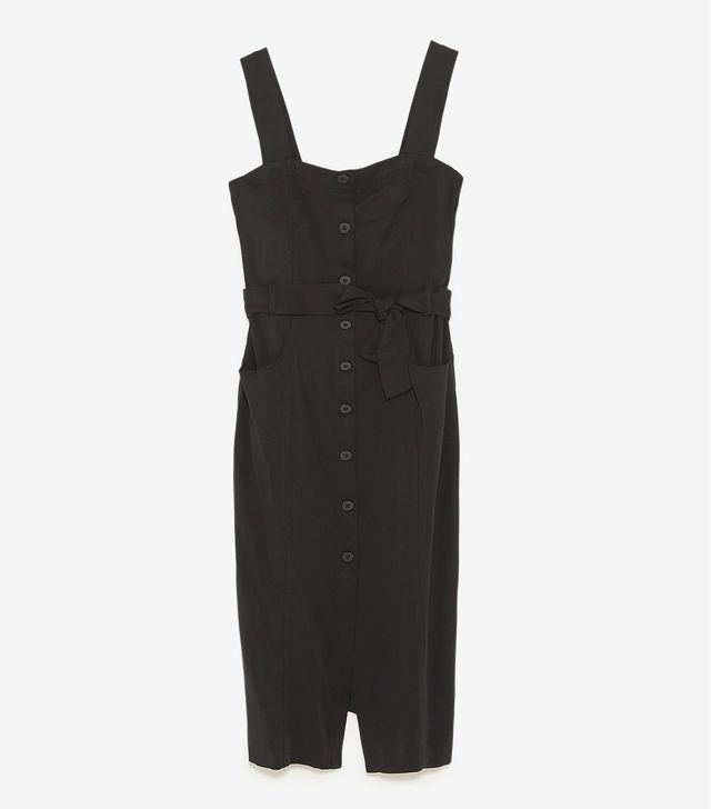 Zara Midi Dress With Buttons