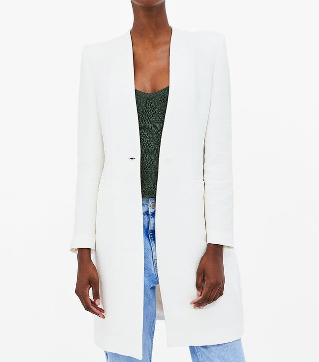 Zara Metallic Thread Structured Coat
