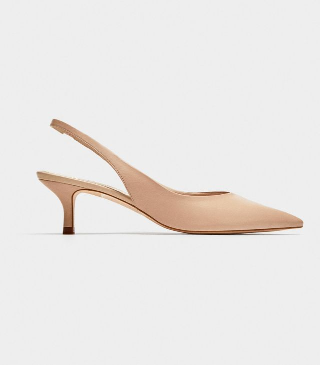 Zara Leather Slingback Shoes