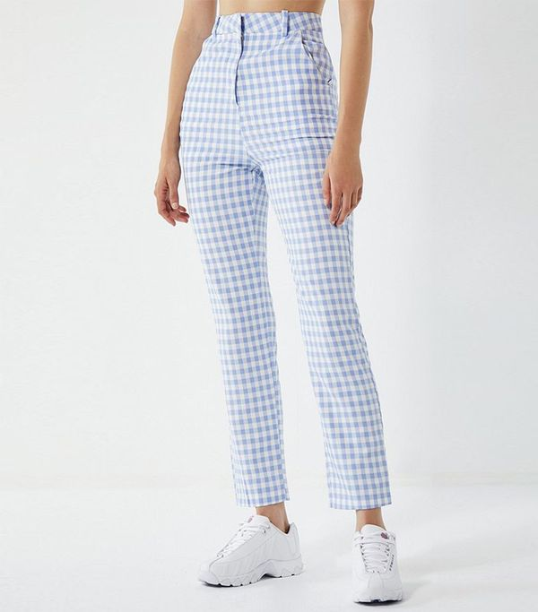Lioness High-Rise Gingham Trousers