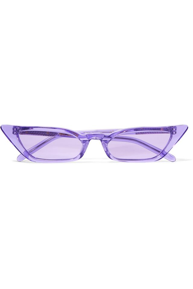 Poppy Lissiman Le Skinny Cat-Eye Acetate Sunglasses