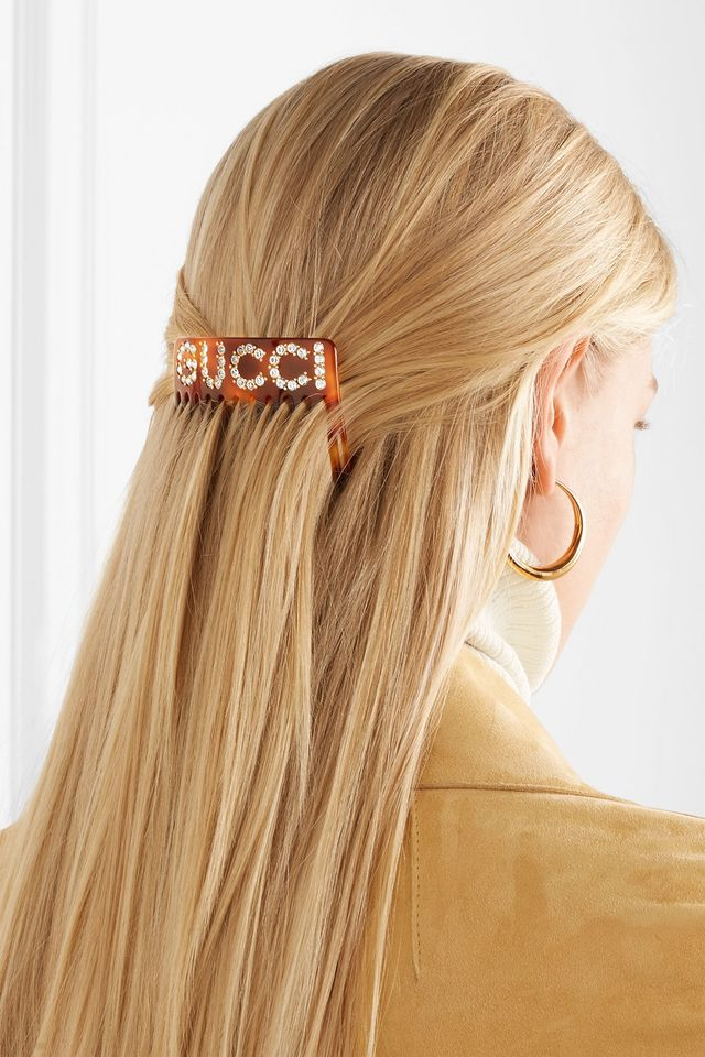 Gucci Resin and Crystal Hair Slide