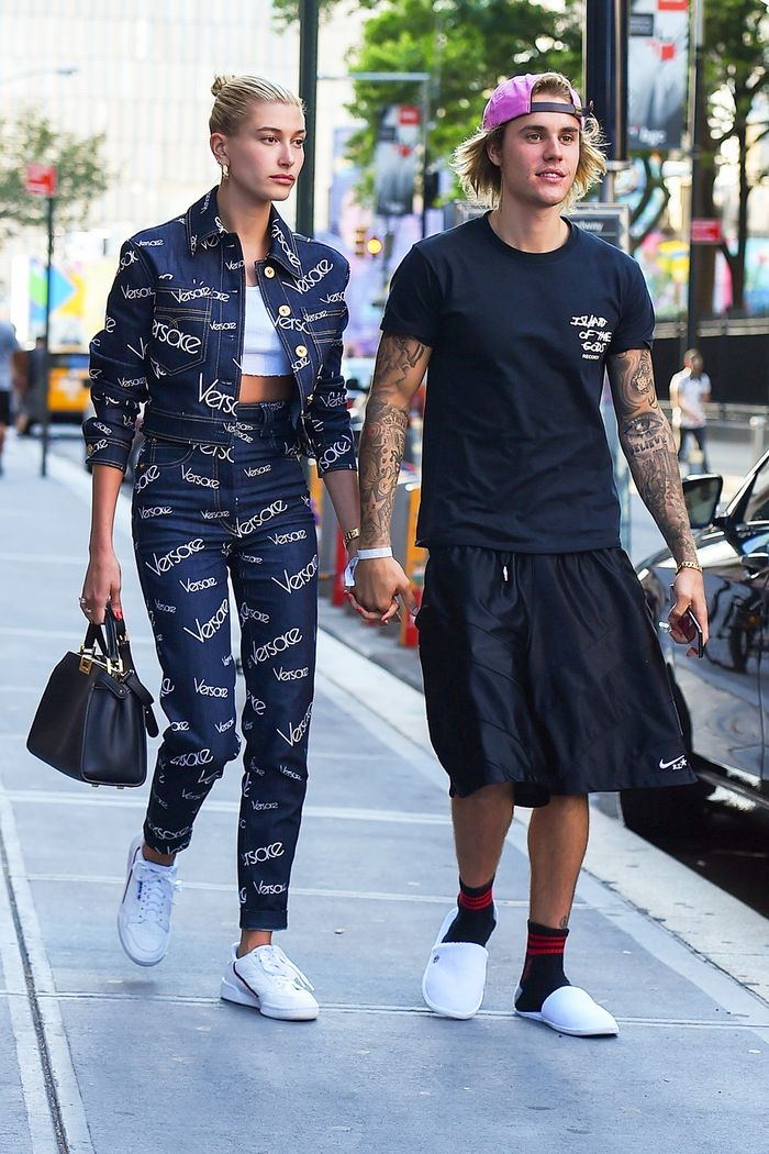 reputable site f9c0d c2f12 Hailey Baldwin Wore New Adidas It Sneakers   Who What Wear