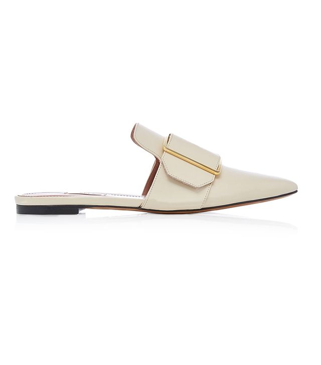Bally Hamelin Buckled Leather Mule