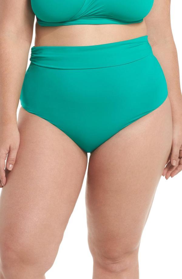 . Color Splash High Waist Bikini Bottoms
