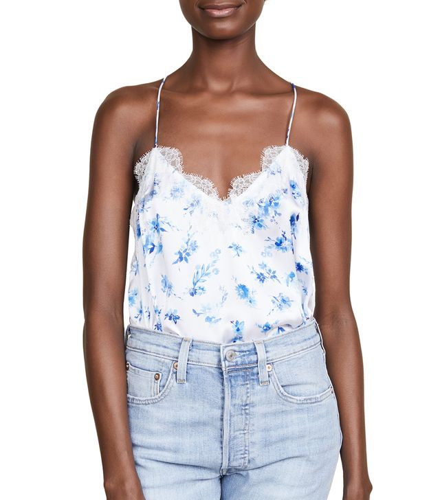 The Racer Charmeuse Top