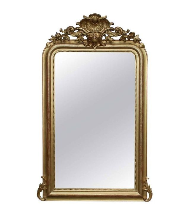 1stDibs Antique Louis Philippe Gold Mirror With Crest