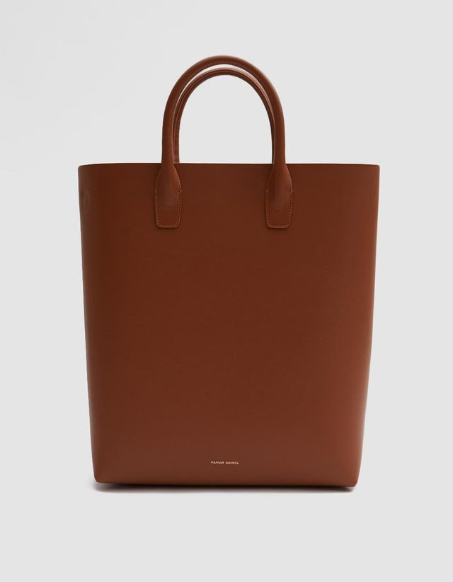 North South Tote in Saddle