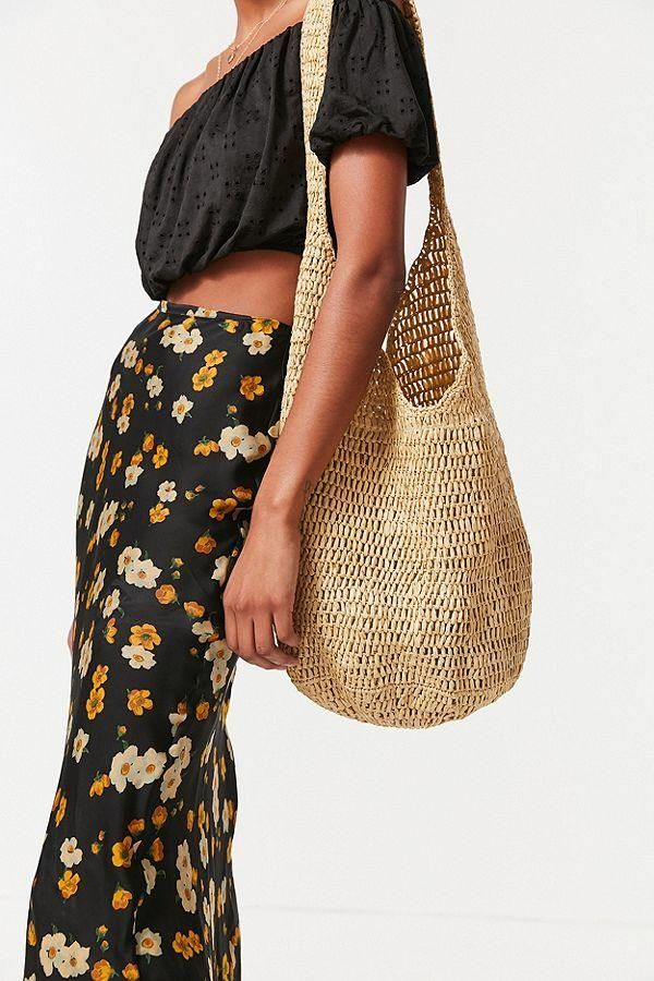 Slouchy Straw Tote Bag