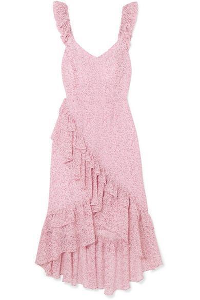 Maeve Ruffled Floral-print Silk-georgette Dress