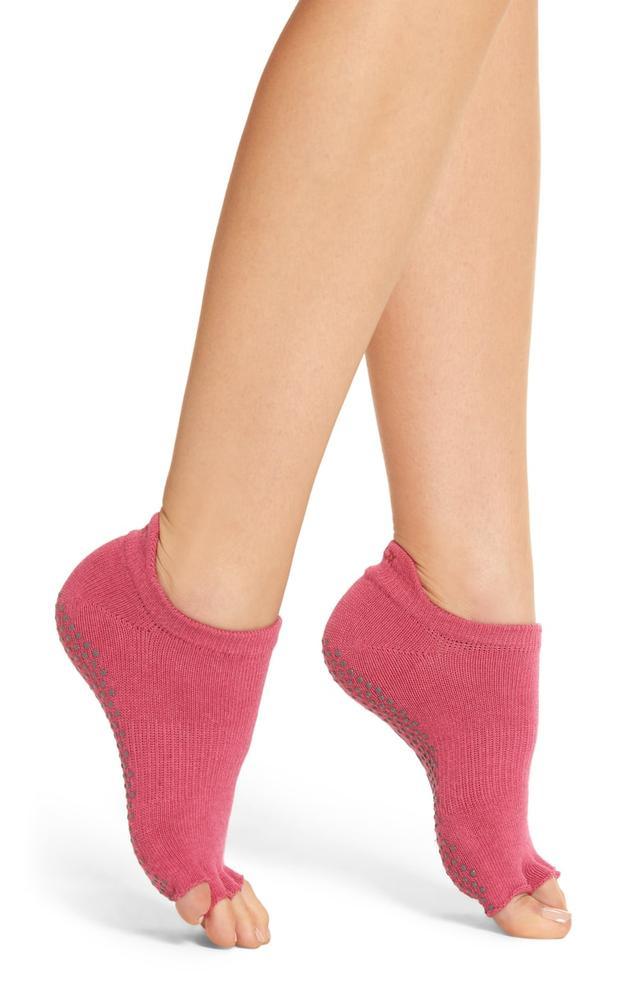 Women's Toesox Low Rise Half-Toe Gripper Socks