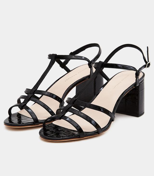 Elena Strappy Sandal in Black