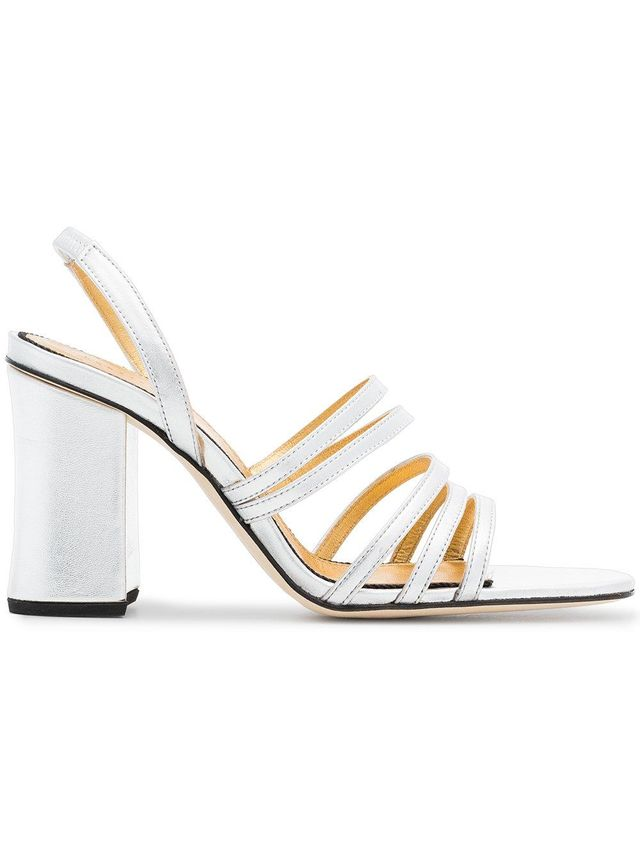 silver Integra 90 leather sandals