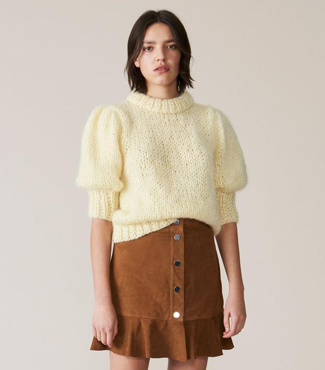 Ganni The Julliard Mohair Puff Sleeve Pullover