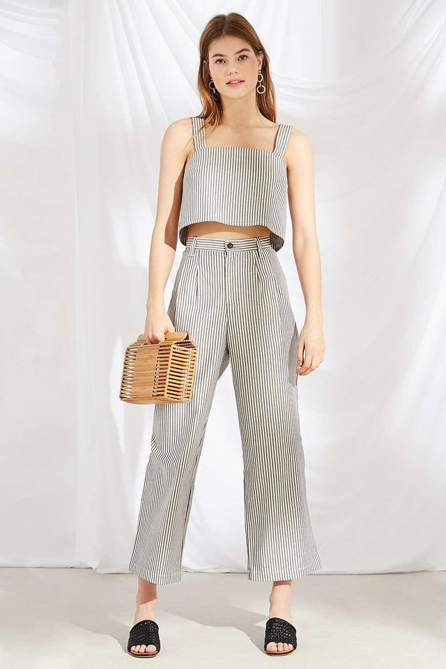 Remnants Striped Wide-Leg Pant