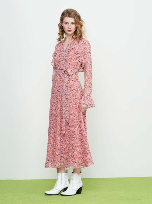 Wrap Dresses to Wear with Cowboy boots to a Wedding
