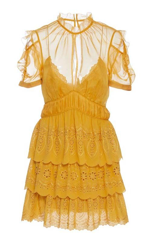 Embroidered Chiffon Minidresses to Wear With Cowboy Boots to a Wedding