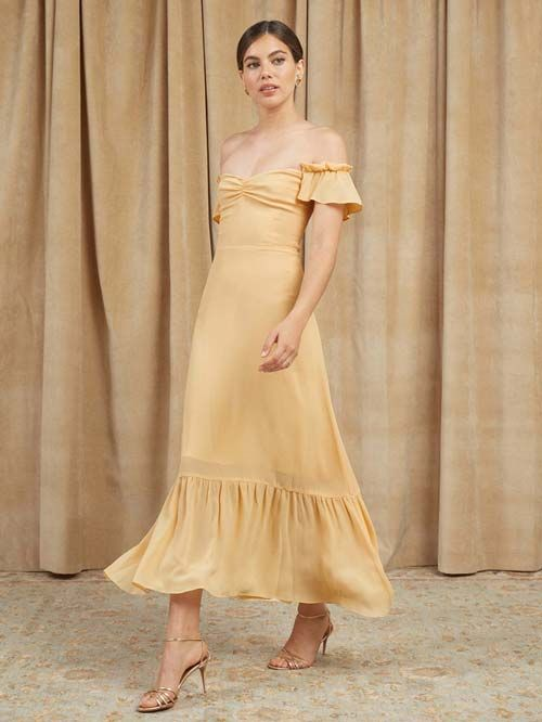 Yellow Dresses to Wear With Cowboy boots to a Wedding
