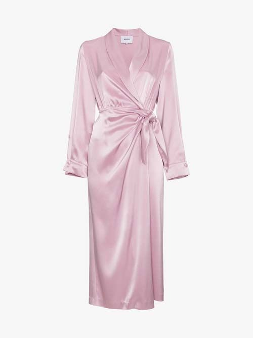 Satin Wrap Dresses to Wear With Cowboy Boots to a Wedding