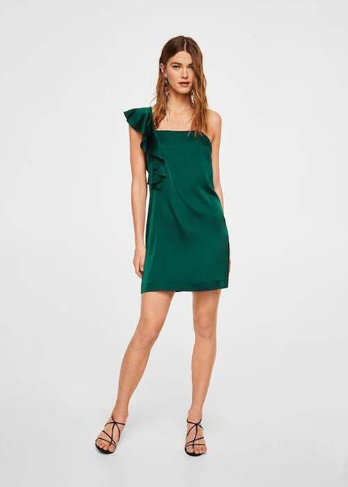 Asymmetrical Satin Dresses to Wear With Cowboy Boots to a Wedding