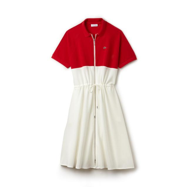 Lacoste Zip Petit Piqué Polo Dress