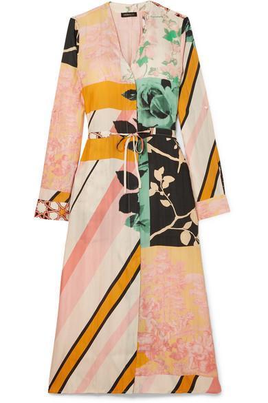 Camilla Printed Satin-twill Dress