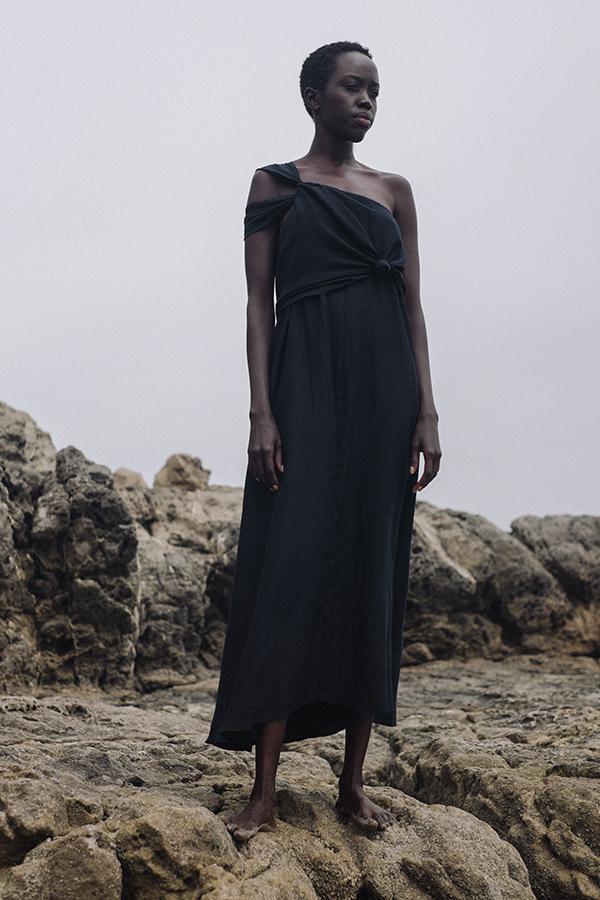 Best Black Knotted Summer Cotton Dresses