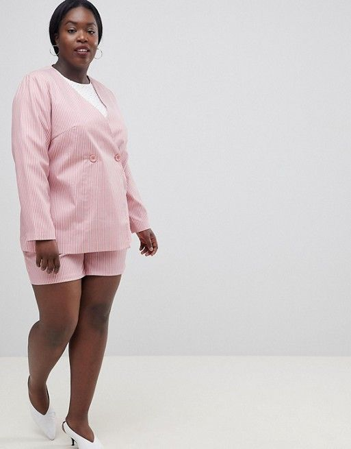 Pink Relaxed Summer  Blazers for Women
