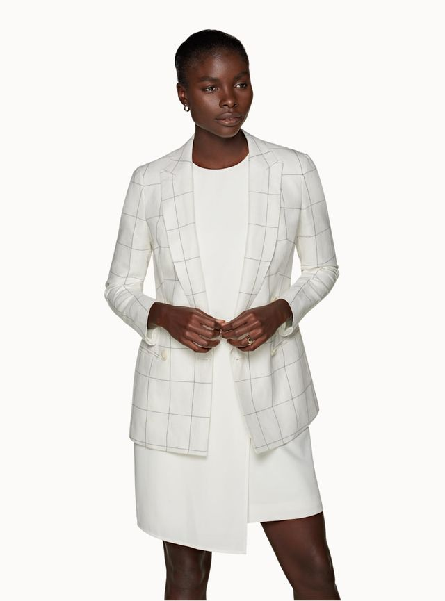 Checkered Summer Blazers for Women