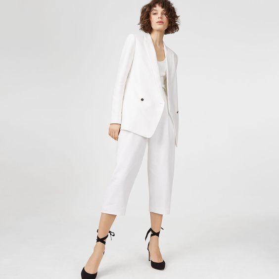 White Summer Blazers for Women