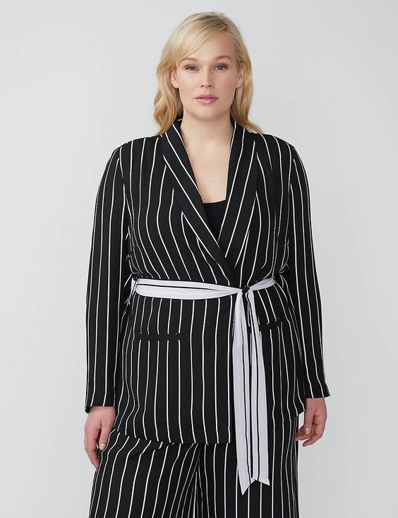 Striped Summer Blazers for Women