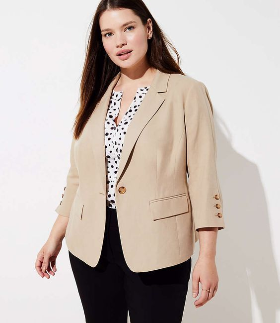 Cream Summer Blazers for Women