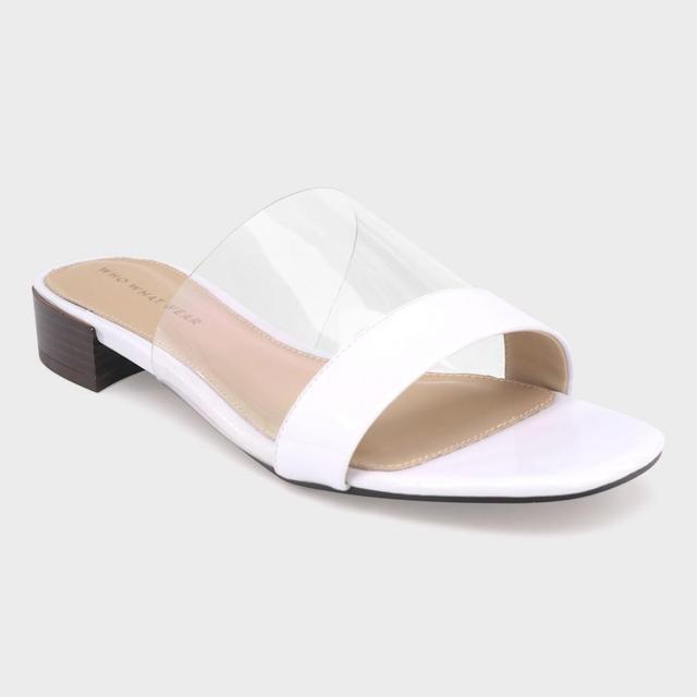 Piper Lucite Heeled Slide Sandals