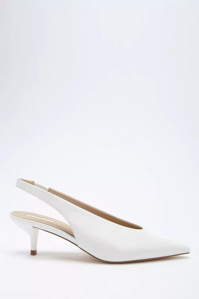 Faux Leather Slingback Heels