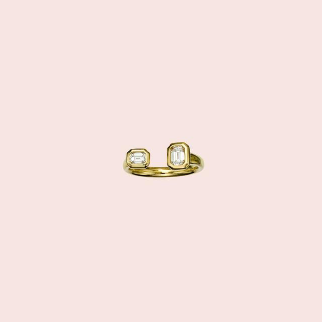 Jemma Wynne Prive Emerald Cut Diamond Ring