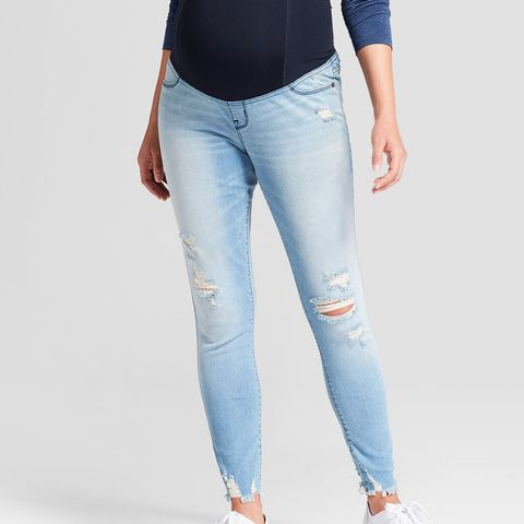 Maternity Crossover Panel Skinny Jeans