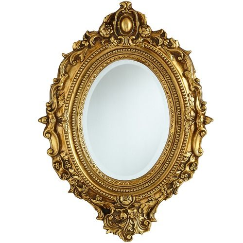 Antique 19th C. Carved Gilt Gold Wooden Mirror