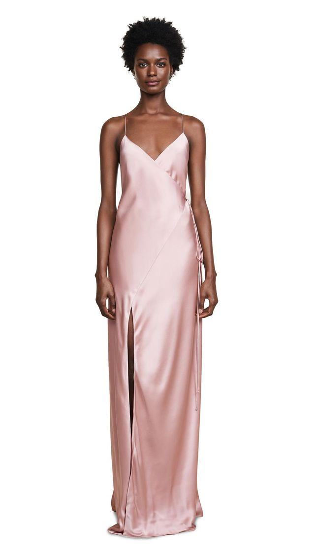 Strappy Wrap Gown