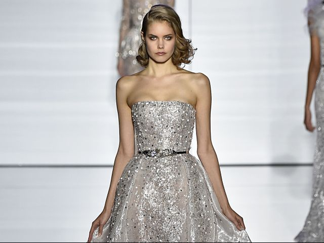 20 beautiful silver wedding dresses who what wear junglespirit Image collections