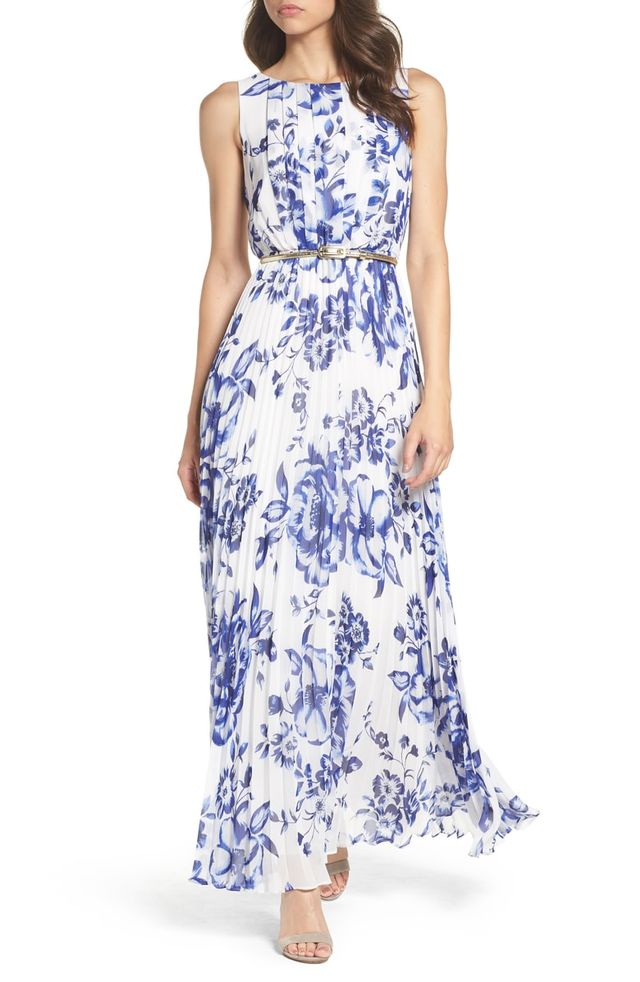 Blue Floral Bridesmaid Dress | 25 Floral Bridesmaids Dresses For Every Budget Who What Wear Au