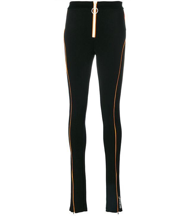 zipped sports leggings