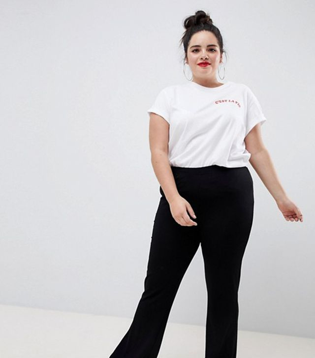 ASOS DESIGN Curve basic kick flare leggings