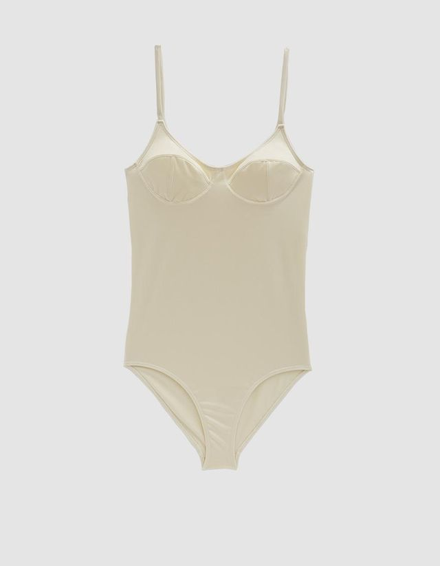 Soft One Piece Swimsuit in Off White