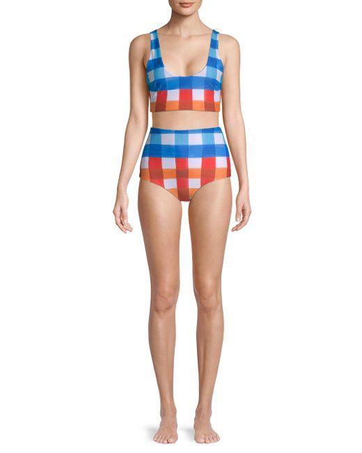 Lira Check Bikini Top