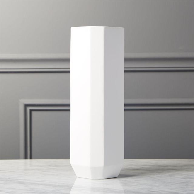 Intermix White Tall Vase