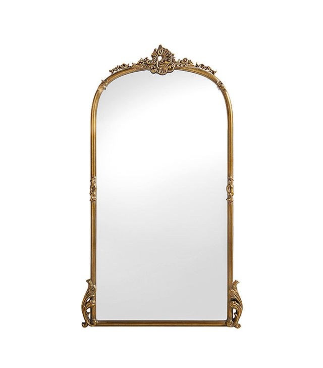 Arhaus Amelie Wooden Arched Mirror In Gold Hue