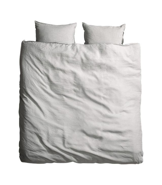 H&M Washed Linen Duvet Cover Set