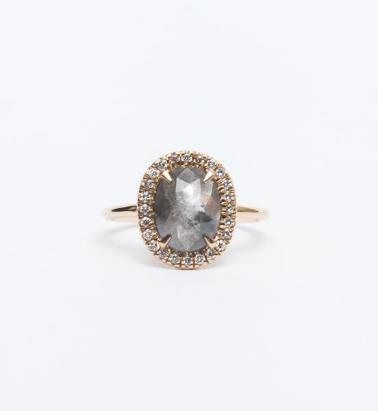 Point No Point Studio Halo Engagement Ring